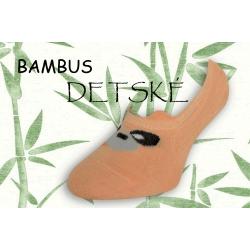 Oranžové bambusové nízke detské ponožky