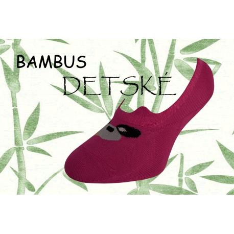 Fuxiové  bambusové nízke detské ponožky