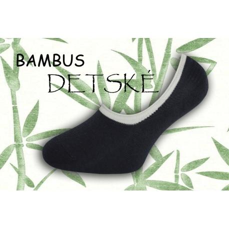 Bambusové nízke detské ponožky - tm.modré