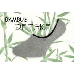 Bambusové nízke detské ponožky - sivé