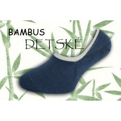 Bambusové nízke detské ponožky - modré
