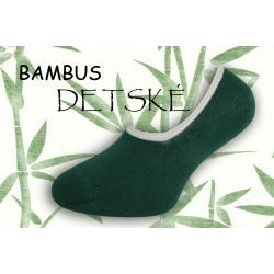 Bambusové nízke detské ponožky - zelené