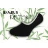 Bambusové nízke detské ponožky - čierne