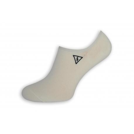 Pevne držiace pánske ponožky s bleskom - biele