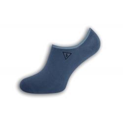 Pevne držiace pánske ponožky s bleskom - modré