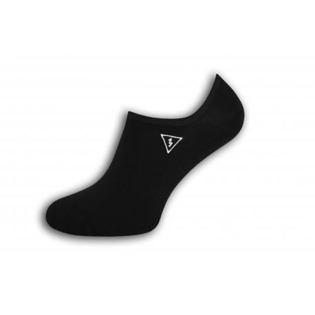 Pevne držiace pánske ponožky s bleskom - čierne