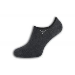 Pevne držiace pánske ponožky s bleskom - tm.sivé