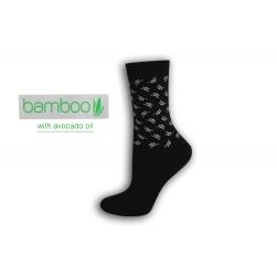 Čierne bambusové ponožky s avokádovým olejom