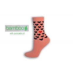 Srdiečka. Bambusové ponožky s avokádovým olejom