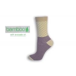 Bodka+pásik. Bambusové ponožky s avokádovým olejom