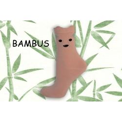 Púdrové bambusové ponožky s tváričkou