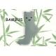 Pistáciové bambusové ponožky s tváričkou