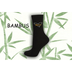 Love. Bambusové čierne dámske ponožky