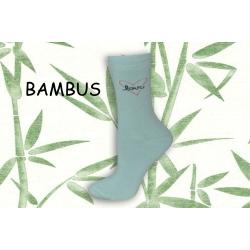 LOVE. Bambusové pistáciové dámske ponožky