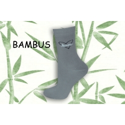 LOVE. Bambusové sivé dámske ponožky