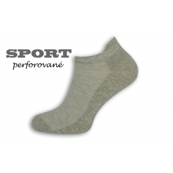 IBA 39-42! 90%-né bavlnené sivé pánske ponožky