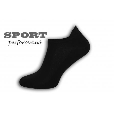 90%-né bavlnené čierne pánske ponožky