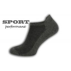 90%-né bavlnené tm. sivé pánske ponožky