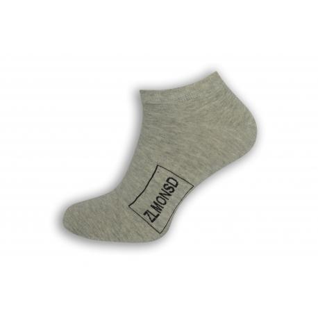 Sivé kotníkové ponožky s logom