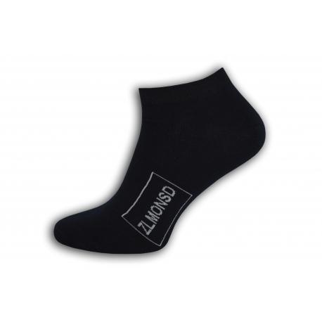 Modré kotníkové ponožky s logom