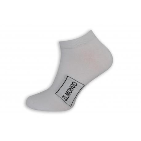 Biele kotníkové ponožky s logom