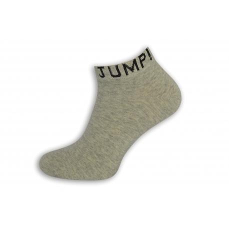 JUMP! Sivé štýlové pánske ponožky