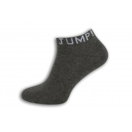 JUMP! Šedé štýlové pánske ponožky