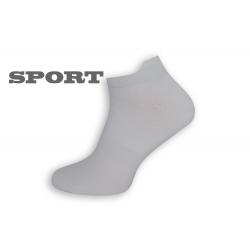 Jednofarebné biele športové ponožky