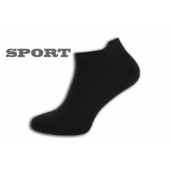 Jednofarebné čierne športové ponožky