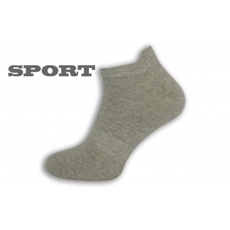 Jednofarebné sivé športové ponožky