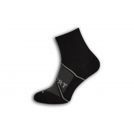 SPORT. Čierne športové pánske ponožky