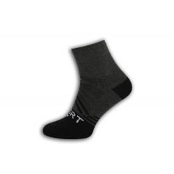 SPORT. Šedé športové pánske ponožky