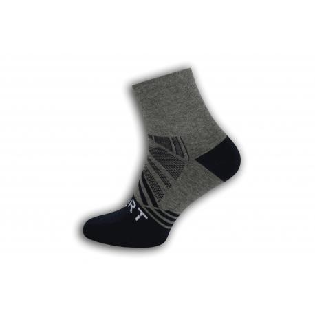 SPORT. Sivo-modré športové pánske ponožky