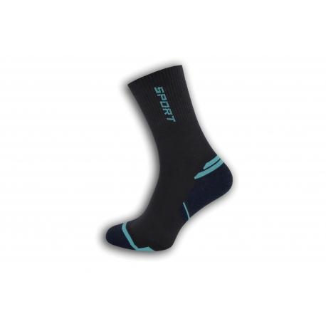 Vysoké športové pánske ponožky - tm.sivé
