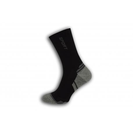 Vysoké športové pánske ponožky - čierne