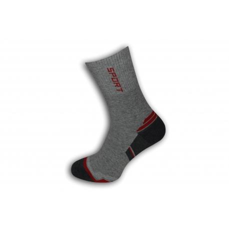 Vysoké športové pánske ponožky - sivé
