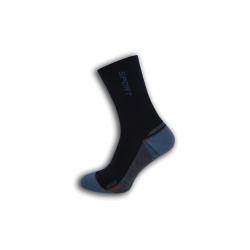 Vysoké športové pánske ponožky - modré