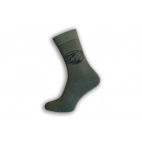 Zelené ponožky pre rybára - záber z člna