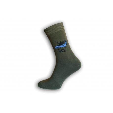 Zelené ponožky pre rybára - FISHING - RYBÁRČENIE