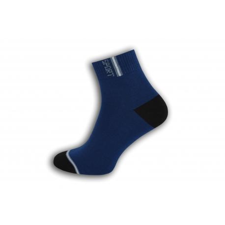 Modré športové ponožky s vyšším kotníkom