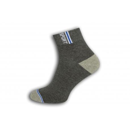 Šedé športové ponožky s vyšším kotníkom