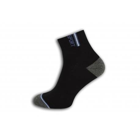 Čierne športové ponožky s vyšším kotníkom