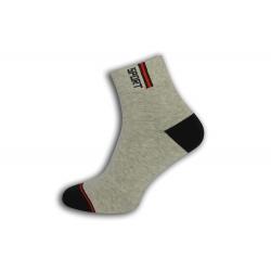 Sivé športové ponožky s vyšším kotníkom