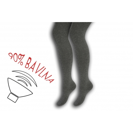 Jednofarebné bavlnené detské pančušky - bl.sivé