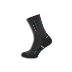 Bavlnené pánske športové ponožky - sivo-tyrkysové