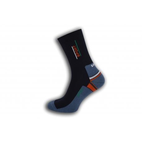 Bavlnené pánske ponožky - modro-červené