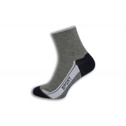 Bavlnené športové ponožky - sivé