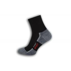 Bavlnené športové ponožky – čierne
