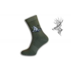 Zelené ponožky pre poľovníka - pri love