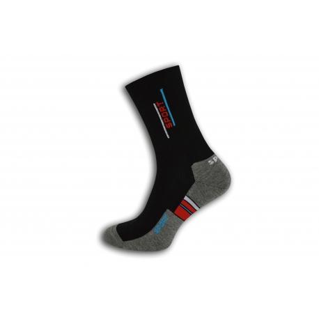 Bavlnené pánske športové ponožky - s červeným